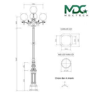 cột đèn mdc5-01