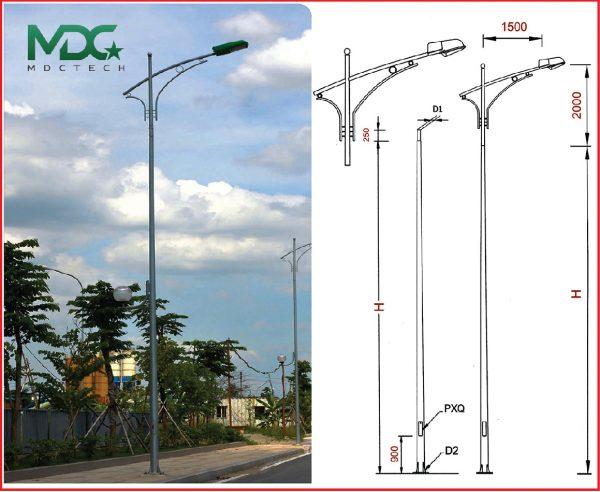 cột đèn mdc-01