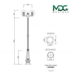 cột đèn mdc 1-01