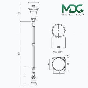 cột đèn mdc 10-01