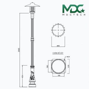 cột đèn mdc 11-01