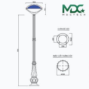 cột đèn mdc 12-01