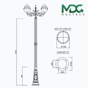 cột đèn mdc 13-01