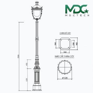 cột đèn mdc 14-01