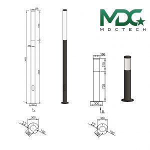 cột đèn mdc 17-01