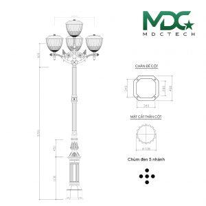cột đèn mdc 4-01
