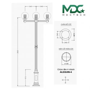 cột đèn mdc 7-01